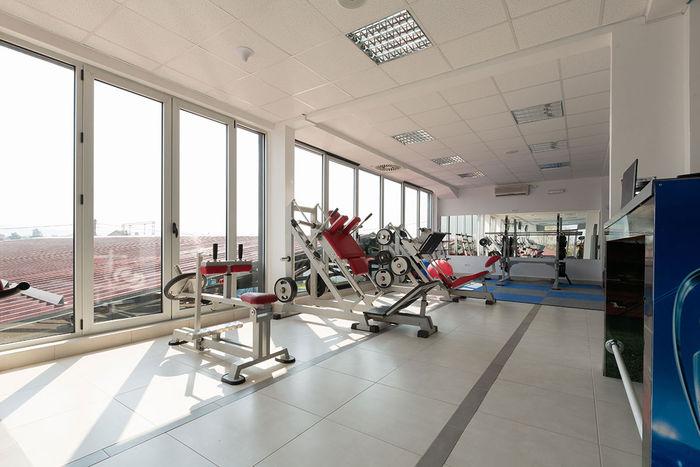 2x4 Mineral Fiber Tile in Gym