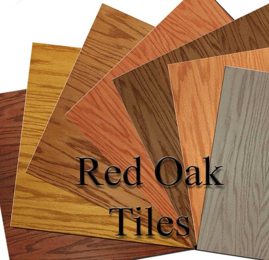 Red Oak Ceiling Tiles