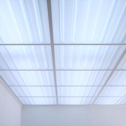 2x2 Translucent Ceiling Tiles in Grid