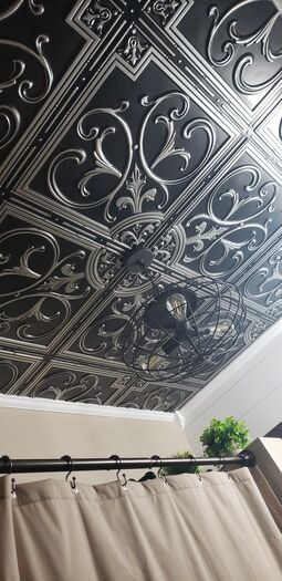 Customer Picture of Florence Antique Silver Ceiling Tile