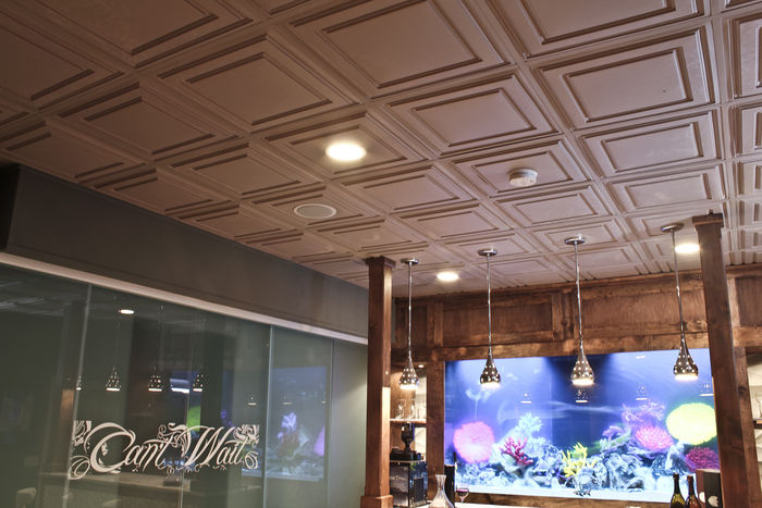Stratford vinyl ceiling tiles white 2x4 ceiling tiles latte stratford ceiling tiles used in a lobby dailygadgetfo Images