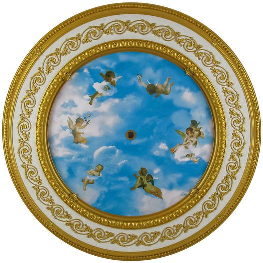 Michelangelo Ceiling Medallion Blue
