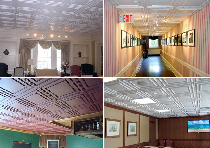 Installed photos of Cambridge Ceiling Tile