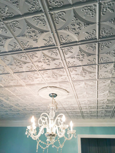 Cathedral Decorative Ceiling Tile in Grid