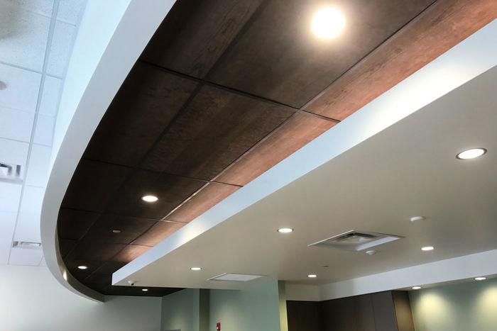 Wood Ceiling Tile Installation