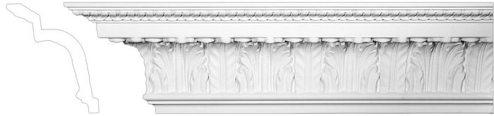 ornate white molding