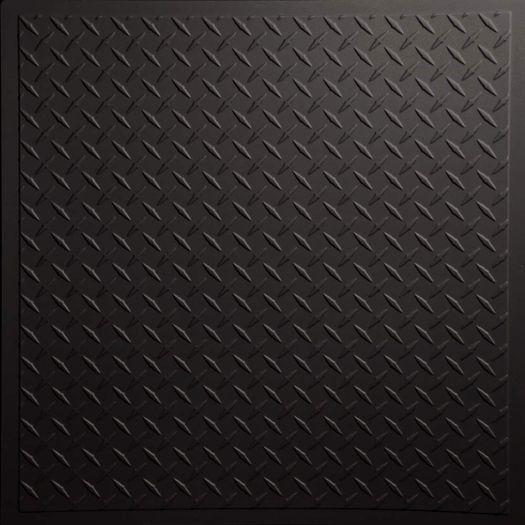 Diamond Plate Black Ceiling Tile