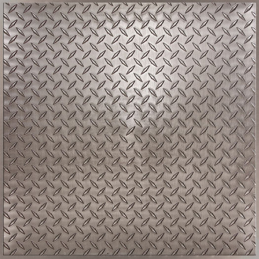 Diamond Plate Faux Pewter By Ceilume