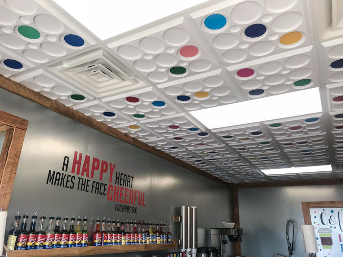 Roman Circle used as a Restaurant Ceiling Tile