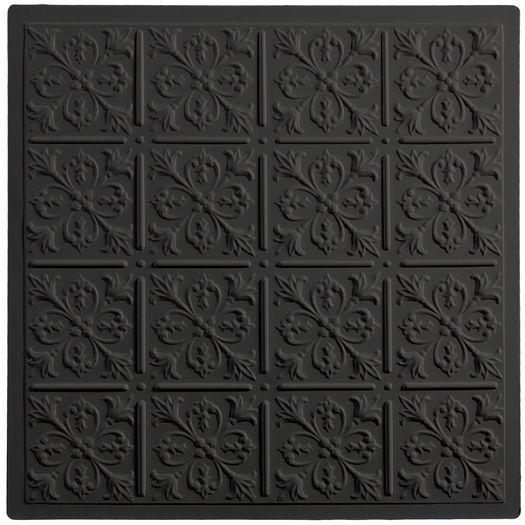 Fleur-de-lis Black Ceiling Tile