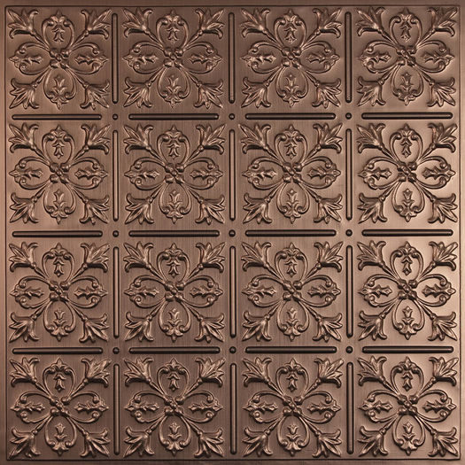Fleur-de-lis Bronze Ceiling Tile