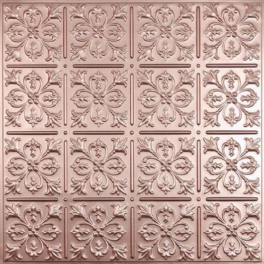 Fleur-de-lis Copper Ceiling Tile