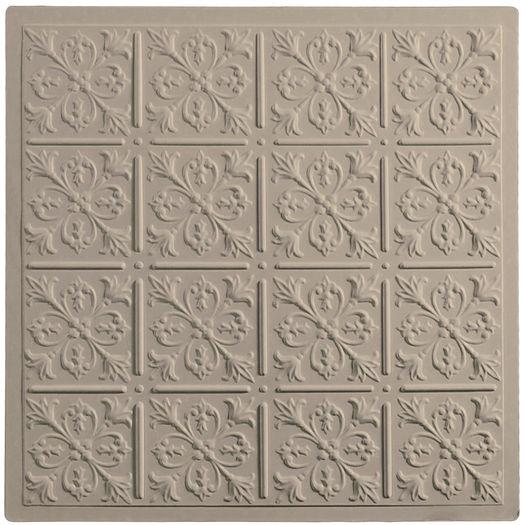 Fleur de Lis 2x2 Latte Ceiling Tile