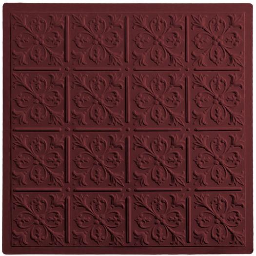 Fleur-de-lis Ceiling Tile - Merlot