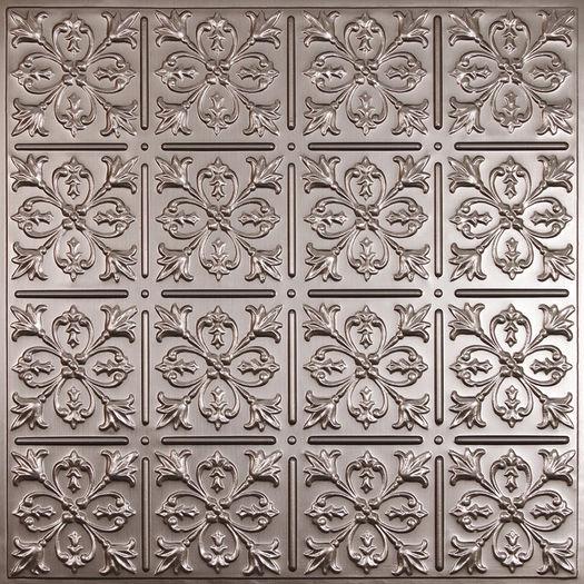 Fleur-de-lis Pewter 2x2 Ceiling Tile