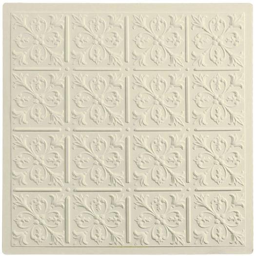 Sand Fleur-de-lis Ceiling Tile