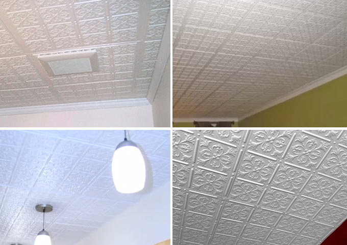 Customer Pictures of Fleur-de-lis Ceiling Tile