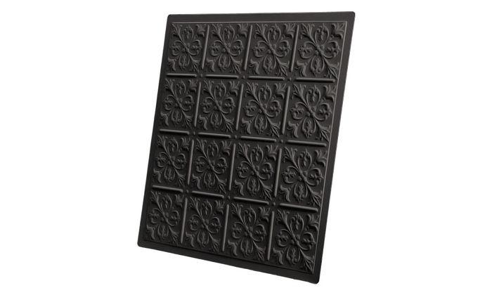 2x2 Fleur-de-lis Black Ceiling Tile