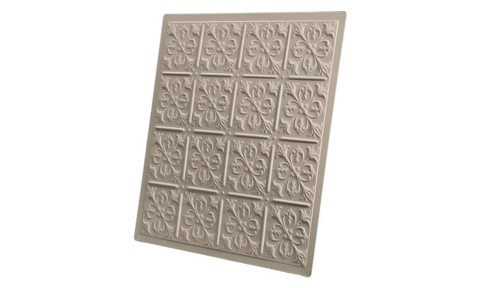 Profile of Fleur de Lis 2x2 Latte Ceiling Tile