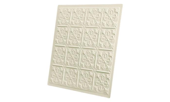 Sand 2x2 Fleur-de-lis Ceiling Tile