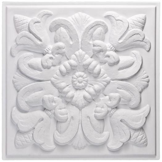Florentine White Ceiling Tile