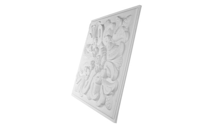 Florentine White Ceiling Tile Picture