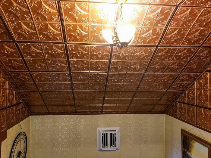 Designer Ceiling Grid Strips Installed