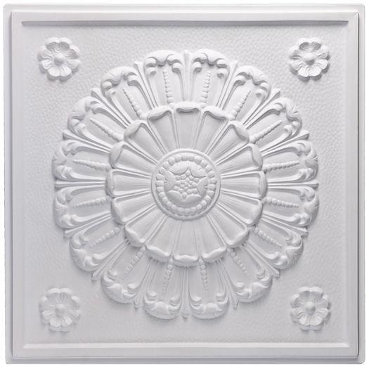 Medallion White Ceiling Tile