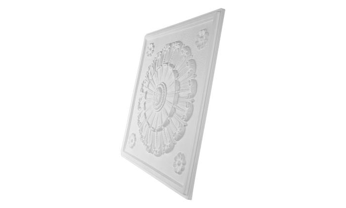 Picture of Medallion White Ceiling Tile