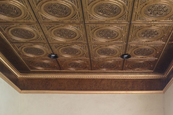 2x2 Messina Decorative Ceiling Tile in Grid