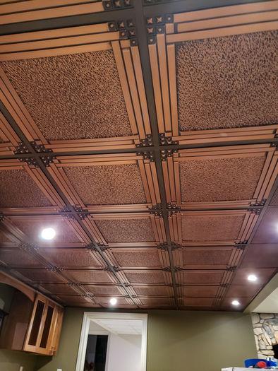 Palermo Antique Copper Ceiling Tile Picture
