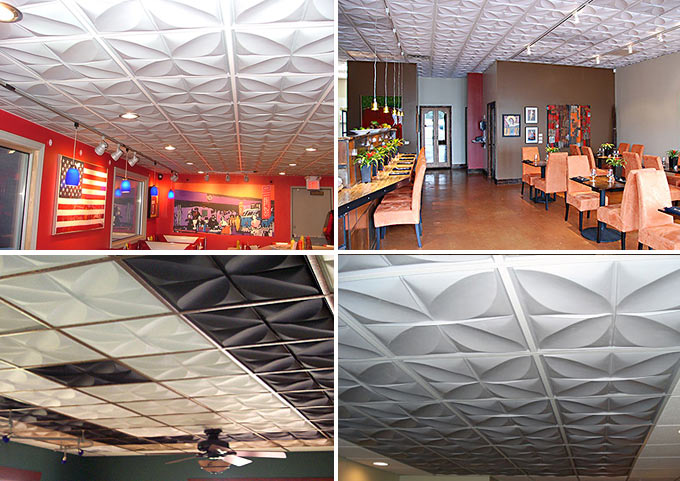 Customer Photos of Petal Ceiling Tile
