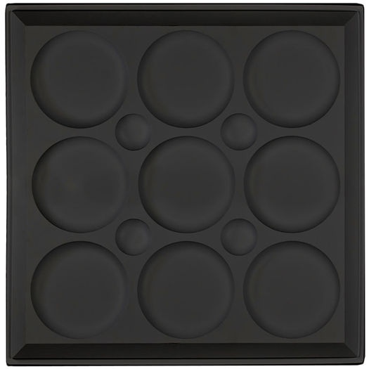 Roman Circle Black Ceiling Tile