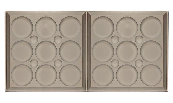 Roman Circle 2x4 Ceiling Tile - Latte