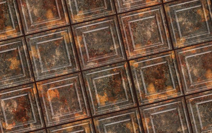 2x2 Simply Rustic Ceiling Tile in Grid