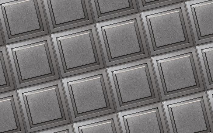 Cornerstone Antique Nickel Ceiling Tile in Grid