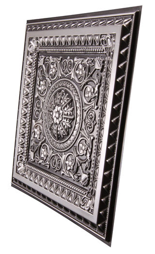 Milan 2x2 Antique Silver Ceiling Tile