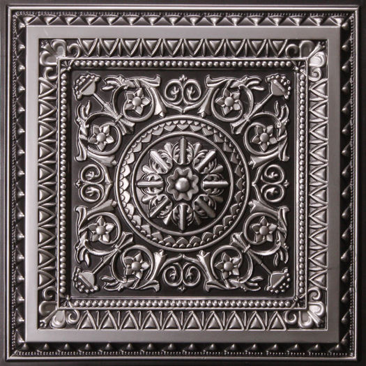 Milan Antique Silver Ceiling Tile