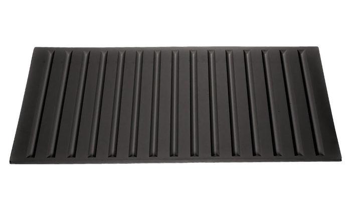 black 2x4 vinyl tiles