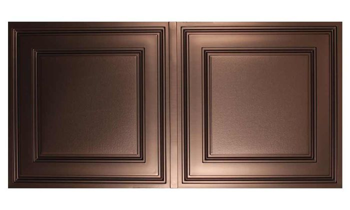 Stratford Faux Bronze 2x4 Ceiling Tile
