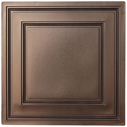 Stratford vinyl ceiling tiles bronze faux tin ceiling tiles faux bronze stratford ceiling tile dailygadgetfo Images