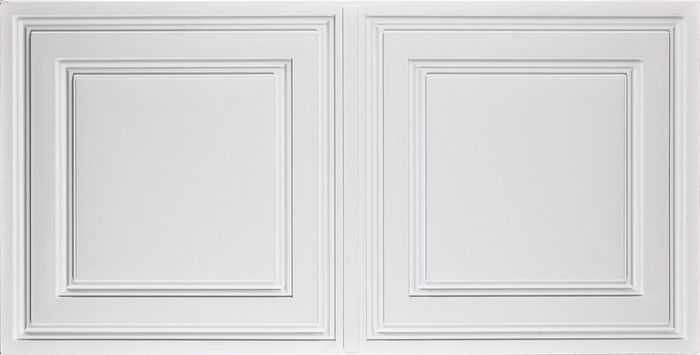 Front white  2x4 ceiling tiles