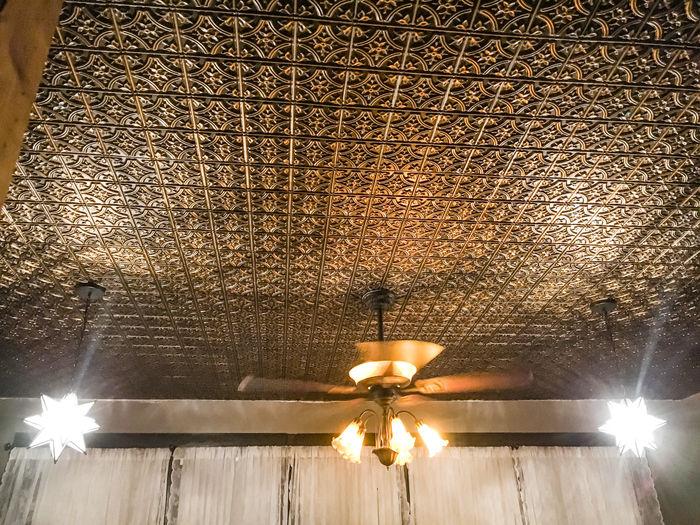 Verona Antique Gold 2x2 Ceiling Tile Installation