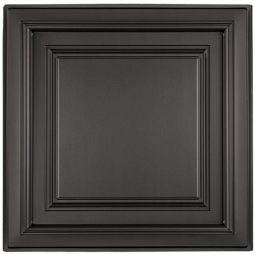 Westminster Coffered Black Ceiling Tile