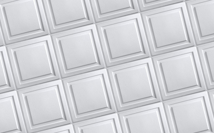 2x2 White Ceiling Tiles in a Grid