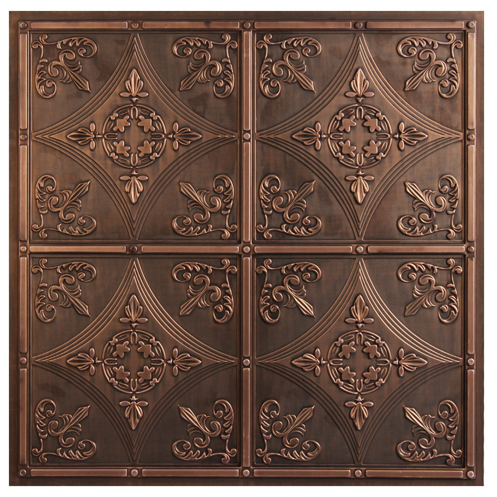 Cathedral Antique Bronze Faux Tin Ceiling Tiles