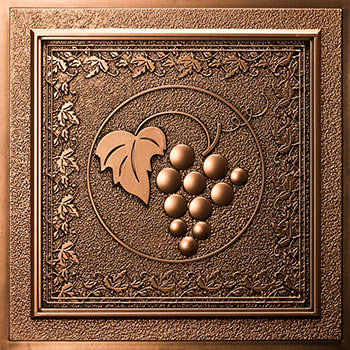 Grape Vines Ceiling Tile - Antique Bronze