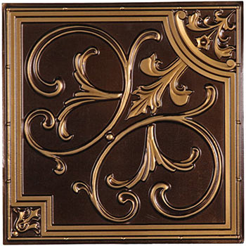 Florence Ceiling Tile - Antique Gold