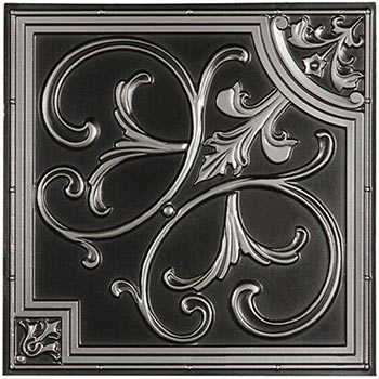 Florence Ceiling Tile - Antique Silver