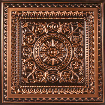 Milan Ceiling Tile - Antique Copper